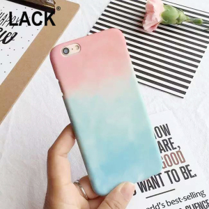 LACK Colorful Gradient Case For iPhone 6 Case For Apple iphone 6S Plus 6Plus Cute Sweet Candy Color Phone Cases Back Cover Funda