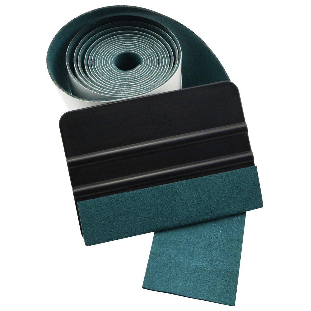 Image 2 - FOSHIO 100CM No Scratch Suede Fabric Edge Carbon Fiber Vinyl Wrap Car Tools Squeegee Auto Window Tint Scraper Protective Cloth-in Scraper from Automobiles & Motorcycles