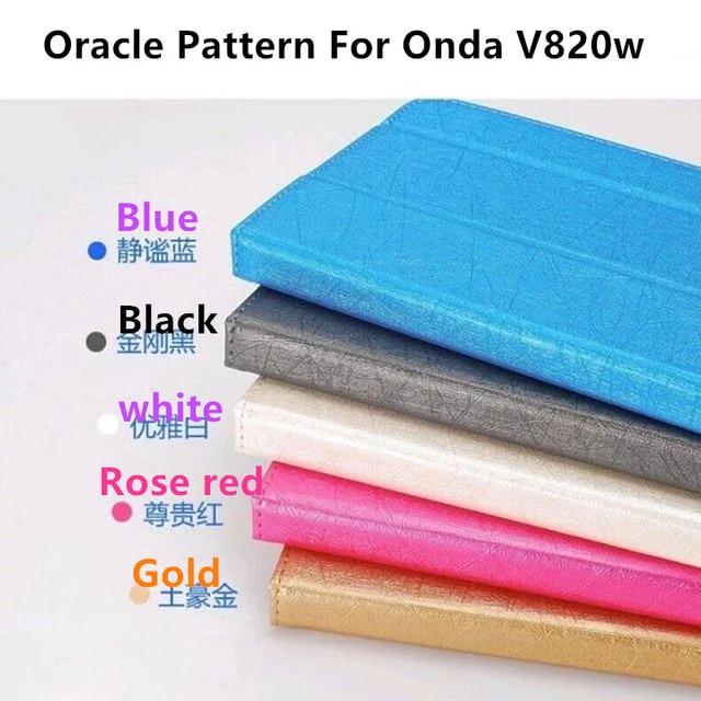 """Sıradan Oracle Desen PU Deri Kılıf Onda V820w 8 """"Çift Boot Tablet PC, ONDA V820W Flip Kapak Standı Fonksiyonu + Hediye"""