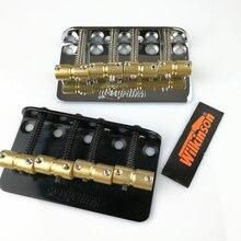 윌킨슨 WBBC 4 개의 4 개의 현베이스 전기베이스 브리지 (황동 안장 포함) 정밀 재즈베이스 크롬 실버 블랙