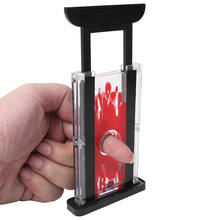 Nieuwe 1Pc Grappige Guillotine Stage Finger Hay Cutter Chopper Magician Trick Prop Magic Toy(China)