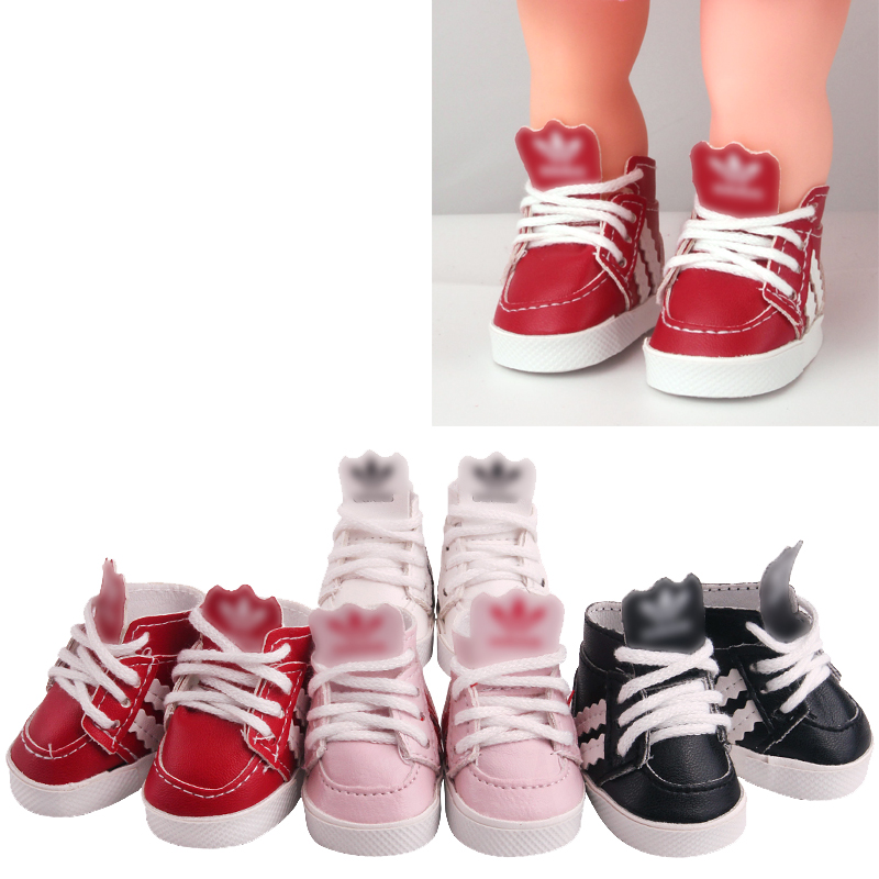 14.5 inch Girls <font><b>doll</b></font> <font><b>shoes</b></font> Fashion sports <font><b>shoes</b></font> PU American new born Sneakers Star <font><b>doll</b></font> gym <font><b>shoe</b></font> Baby toys fit milo <font><b>doll</b></font> x43 image