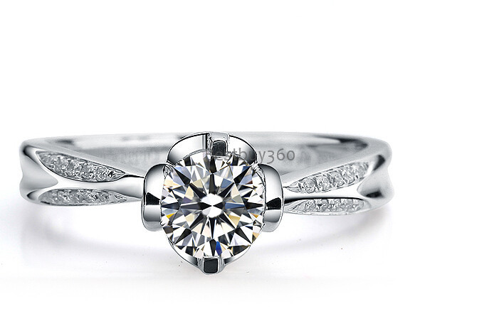 1 carat 925 sterling silver ring sona simulation diamond wedding marriage ring US size from 4 to 12 (JSA)