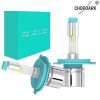 Прокат светодиодные лампы фар противотуманных фар с вентилятором мини Размеры 12000LM 50 W 6000 K 12 V h4 h7 h1 h3 h8 h11 880 h27 9005 9006 9012 hb3 hb4