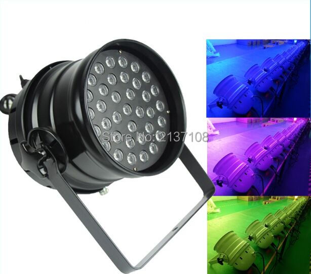 36PCS 3W Wash RGB LED Par 64 DMX DJ Disco Party Wedding Professional Stage Lighting Equipment 110V 230V Free Shipping