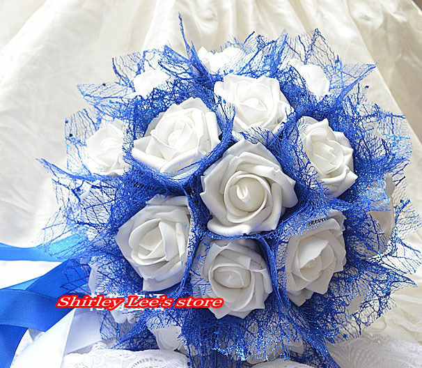 New Arrival 1pc X Pretty White Rose Wedding Flowers Bridal