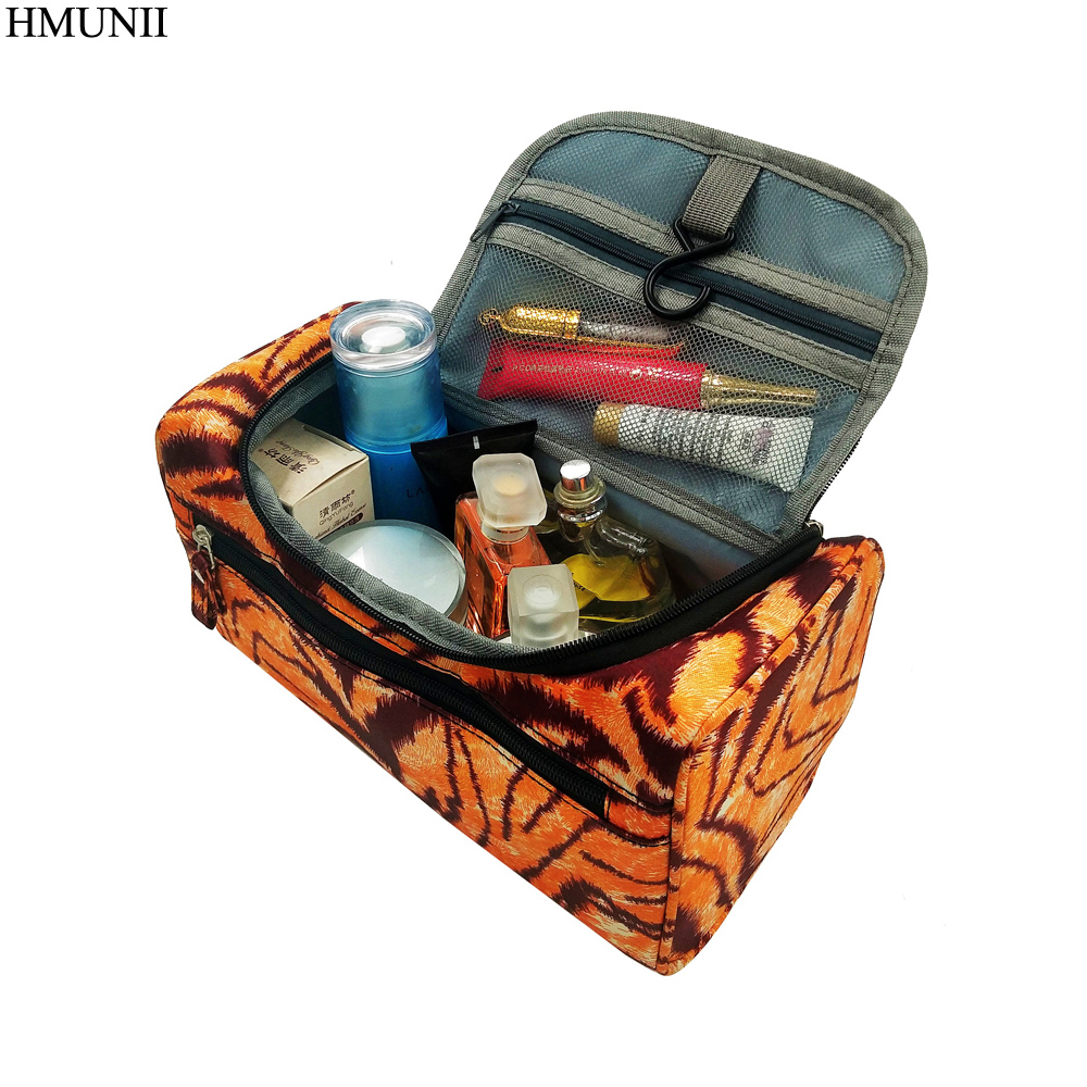 HMUNII Men Hanging Makeup Bag Nylon Travel Organizer Cosmetic Bag for Women Large Necessaries Make Up Case Wash Toiletry Bag