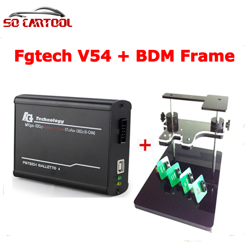 Best Match ! Bdm Frame+Fgtech Galletto 4 Master V54 OBD2 Chip Tuning FG Tech Galletto V54 Master by DHL Free Shipping best quality fg tech v54 auto ecu chip tuning programmer fgtech galletto 4 v54 master bdm obd multi languages free ship