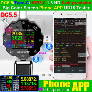 Image 2 - DC5.5 USB 3.0 סוג C 18 ב 1 USB tester DC דיגיטלי מד מתח חשמל בנק מטען מתח הנוכחי מד זרם גלאי QC/PD3.0 מטר