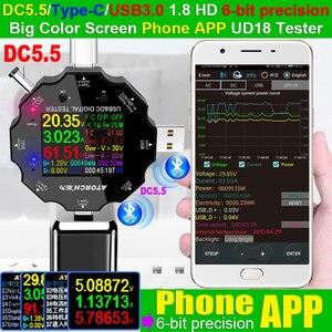 Image 2 - DC5.5 USB 3.0 Type C 18 in 1 USB 테스터 dc 디지털 전압계 보조베터리 충전기 전압계 + PD3.0/2.0 프로토콜 트리거