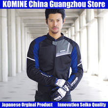 Komine Japanese Original Men Motorcycle Jacket Motorbike Riding Jacket Breathable Motorcycle Body Protective Gear Armor Summer chinese brand scoyco am06 motorcycle armor motorbike armors chest back support riding protective device made of pp size m l xl
