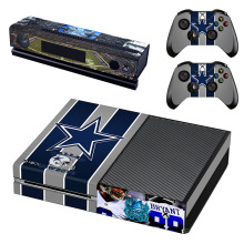 NFL Dallas Cowboys Decal Pores and skin Sticker for Microsoft Xbox One Kinect and Console and a pair of Controllers Vinyl Recreation Stickers