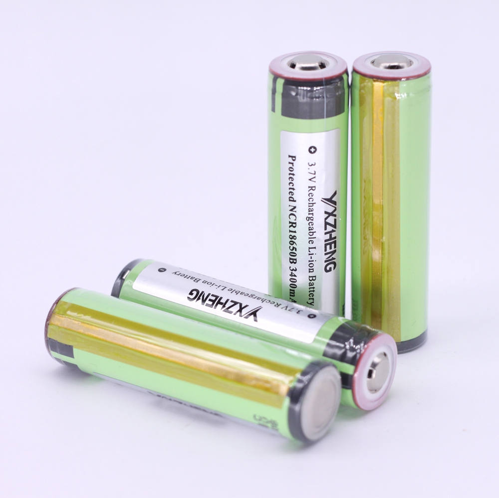 4PCS Protected 3400mah NCR18650B Rechargeable li-ion battery 3.7V For panasonic for flashlights
