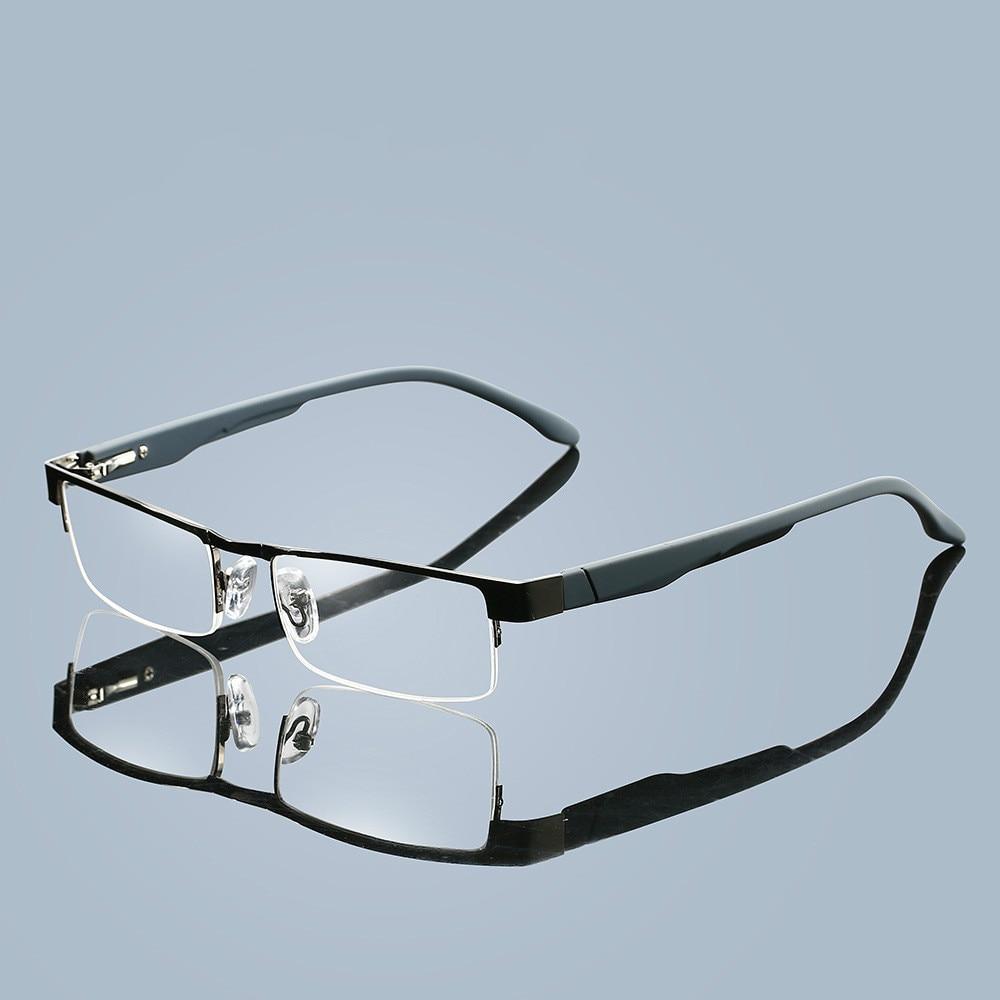 Metal Men Titanium Alloy Reading Glasses Non Spherical 12 Layer Coated Lenses Retro Business Hyperopia Prescription Eyeglasses