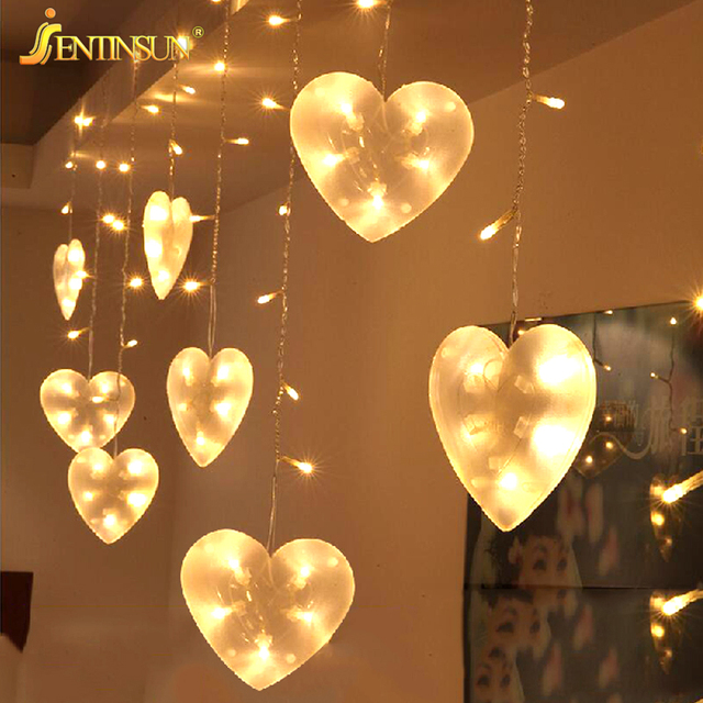 New 300 65cm New Wedding Decoration Heart shaped LED String Light 8 Modeling Lantern Romantic Luxury - Awesome indoor lighting Simple