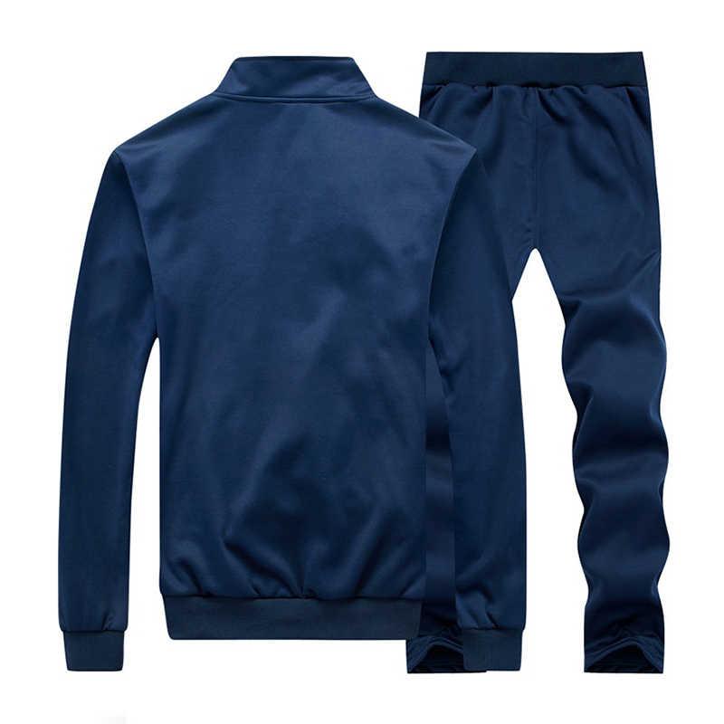 US rozmiar dres codzienny bluza męska stójka kołnierz kurtka z zamkiem bluzy z spodnie męski sweter z długim rękawem odzież sportowa