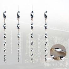 4Pcs Hängen Schützen Ernte Abschreckung Abweisend Tauben Reflektierende Sicher Vogel Erschrecken Rod Garten Spirale Design Outdoor Tragbare