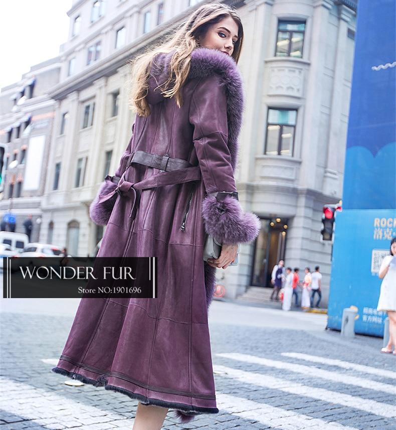 X-Panjang Fur Garment Untuk Wanita Luxury Fox Fur Hooded Double Face - Pakaian Wanita - Foto 3