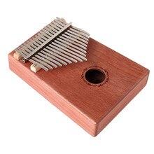 17 Keys mahogany solid wood Kalimba finger piano African Thumb Piano Finger Percussion Keyboard