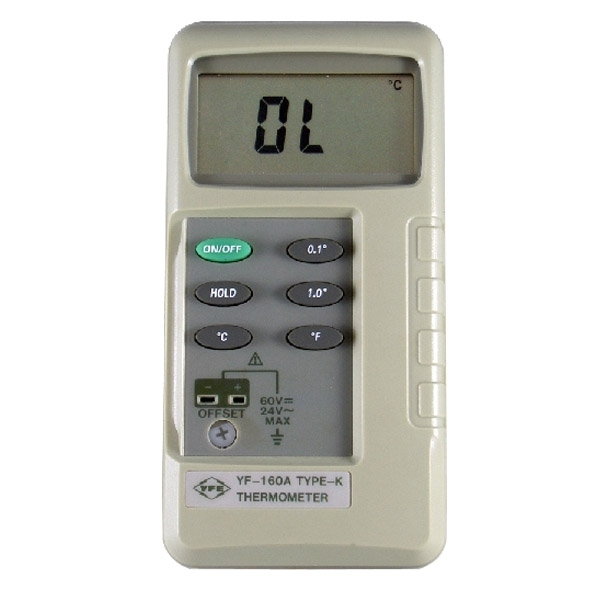 Tenmars YF-160A K Type Thermocouple Thermometer tes1300 portable dgital k type thermocouple thermometer