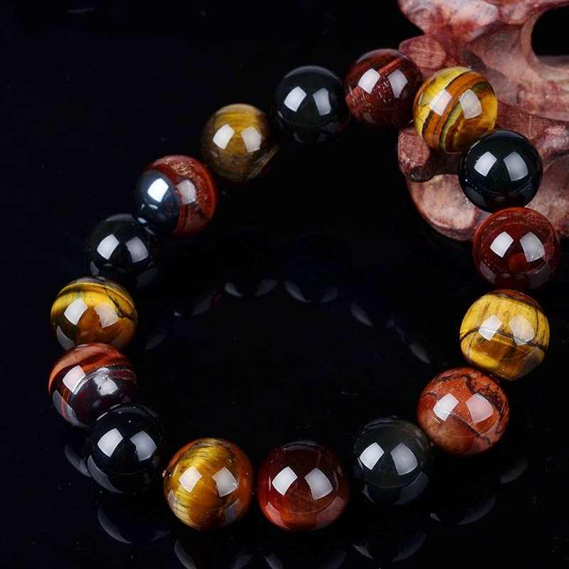 Unique 10mm New Tiger Eye  Elegant Collar Gifts Buddha Bracelets Trendy Natural Stone Jewelry for Women Men bracelet femme