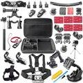 Acción cámara Accesorios Juego para cámara de acción eken h9 h9r h3r soocoo c30 s70 f60r con caja de la cámara del casco de montaje