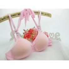 Girls Bras Detachable Halter Bra Cotton Thin Top Young Girls Underwear Comfortable Training Bras Children Clothing Free Shipping