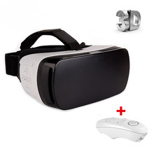 New Arrivel Google Cardboard VR BOX 4.0 Eye Travel 3D Glasses Virtual Headset Glasses for 3.5 – 6.0″ Smart Phone+Controller