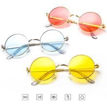 نساء موضة ريترو نظارات دائرية عدسة النظارات الشمسية إطار نظارات شمسية نظارات العلامة التجارية مصمم نظارات شمسية كول إكسسوارات السفر