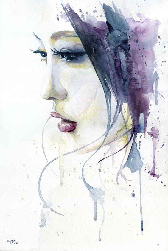 Ručně vyráběné abstraktní styl akvarelu na plátně krásy pro domácí dekor ručně malované sex lady portrét umění olejomalby