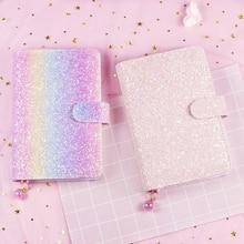 Neue candy Japanischen pailletten hardcover spirale notebook für mädchen, kawaii persönliche binder planer agenda organizer schreibwaren A5A6
