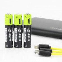 Cncool 4pcs/lot 1.5V AAA 400mah li-polymer li-ion lithium rechargeable battery USB battery with USB charging line leory 4pcs lot znter aaa 400mah usb lipo rechargeable battery with usb charging cable lithium polymer li ion li po batteries