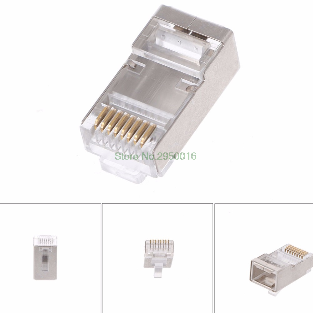 100 Conector de Rede Plugue Modular Plugs