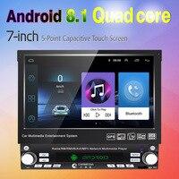 LEEWA 7inch 1DIN In dash Manumotive Ultra Slim Android 6.0 Quad Core Car GPS Bluetooth Navi Radio USB Media Player #CA2788