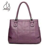 Classic Tote Handbag Women Shoulder Bag Italian Leather Bags Designer Brand Female Large Big Casual Weave Pattern Patchwork 2017