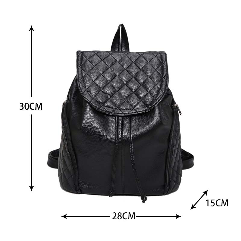 c7418abf08a2 2017 Women Backpack PU Leather Shoulder Bag Casual Backpacks Female Travel  Bag School Bags Cover Mochilas Bolsas Feminina-in Backpacks from Luggage    Bags ...