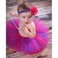 Мода Многоцветный Новорожденный Юбки С Соответствующими Цветы Повязка Лето стиль Потрясающие Новорожденных Фото Опора Девушки Пачка Юбки