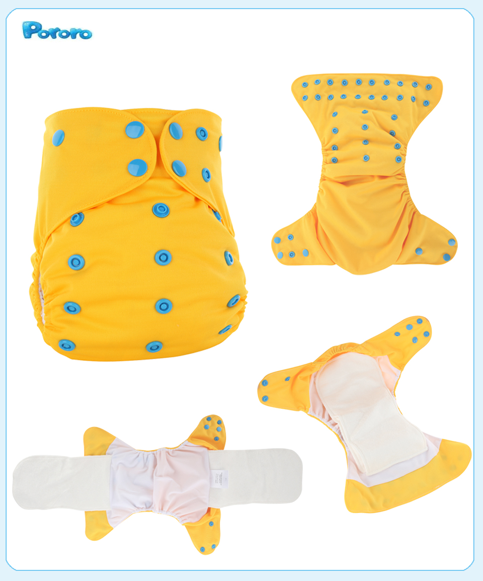 New Baby Diapers Reusable Waterproof AIO Newborn 1pcs Fralda Bamboo Fiber Couche De Tissu Cloth Diaper Cover Baby Wizard Diapers