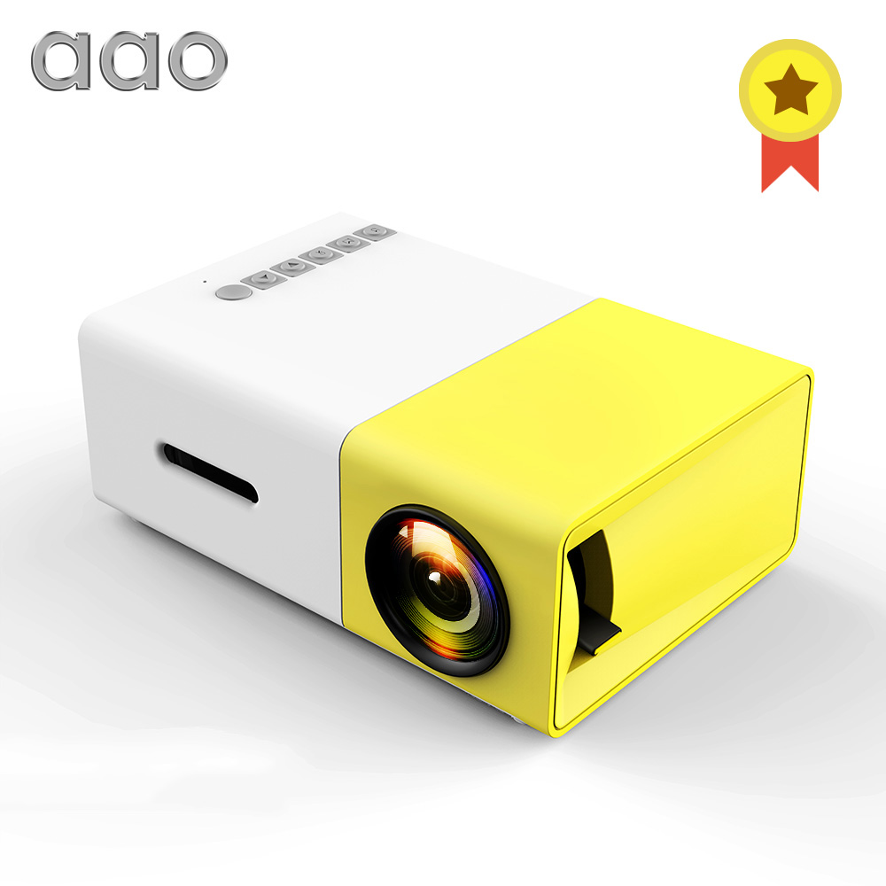 AAO YG300 FÜHRTE Mini Projektor Audio YG-300 YG310 HDMI USB 3D Pico Projektor Home Media Player LCD Video Proyector Kinder kind Geschenk