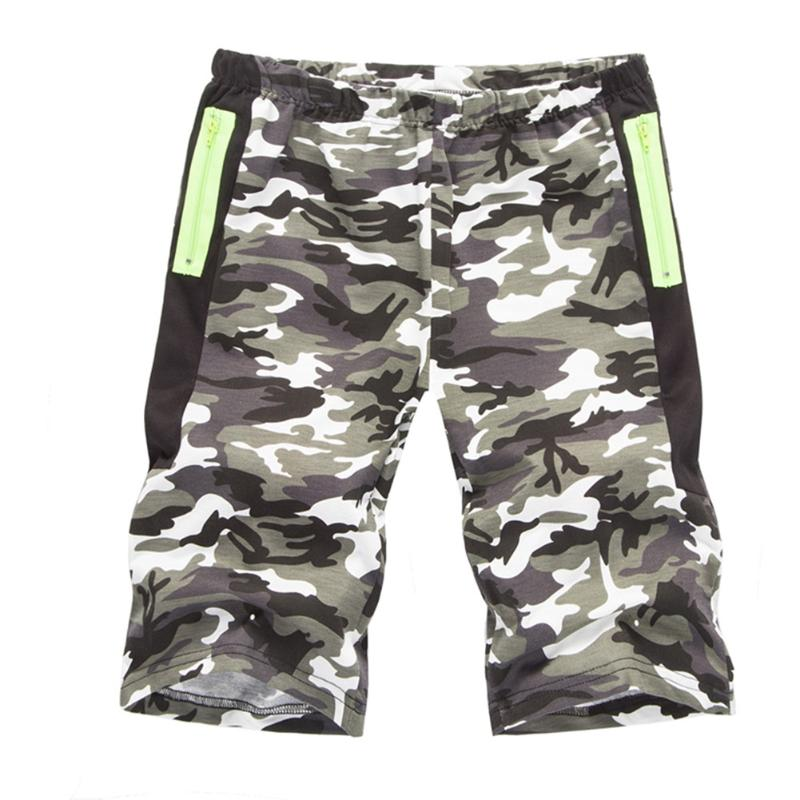 New Fashion Men Sporting Beaching Shorts Bodybuilding Sweatpants Fitness Short Camouflage Printed Shorts plus size M-2XL