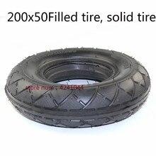 Solide Hinten Reifen Verwendet mit Bürstenlosen Motor 200X50 Für Gas Roller Elektrische Roller Fahrzeug