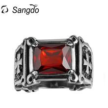 Sangdo Hot Selling Men Stainless Steel Exaggeration Fashion Retro Finger Rings Personality Creative Ring As Perfect Gift ZK30