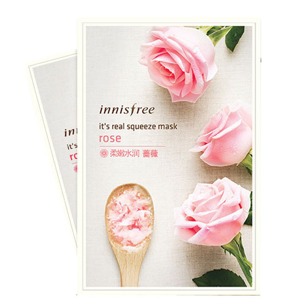 innisfree It's Real Squeeze Mask Moisturizing Oil-control Sheet Mask Anti-Aging Smooth Skin Korea Cosmetics Facial Mask Skin Care