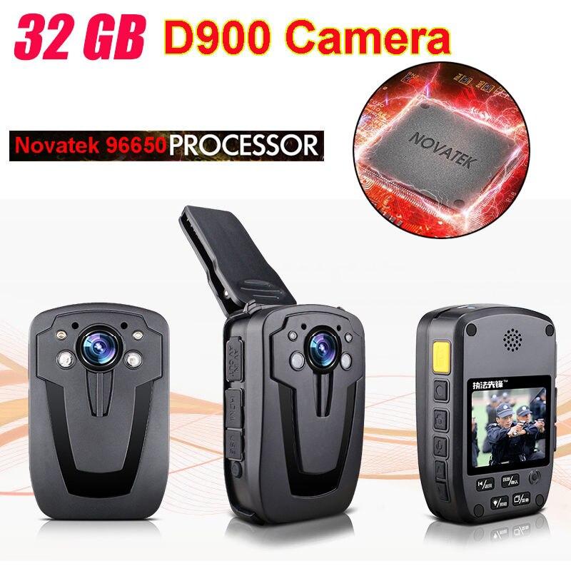 Blueskysea D900 Novatek 96650 32 GB Full HD 1080 P Police Corps revers Porté Caméra Vidéo Enregistreur DVR IR Nuit Cam de six heures Record