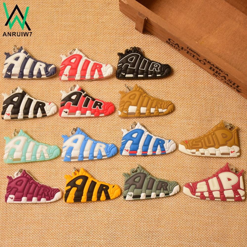 Mini Silicone Sneaker AIR Keychain Shoes Key Chain Woman Men Bag Charm Car Accessories Key Rings Pendant Gifts