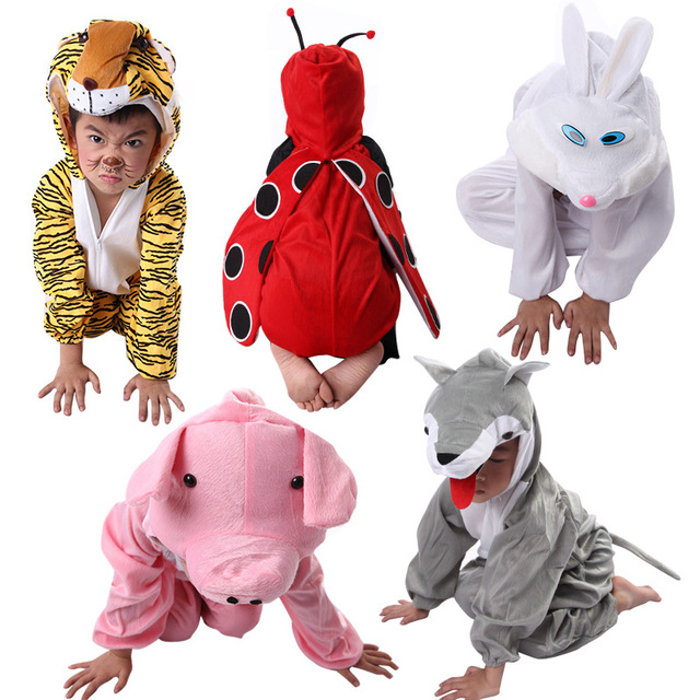 Kids Cosplay Costumes Combinations Cartoon Animals pig wolf tiger Costumes Kindergarten Celebrate Carnival clothes for kids