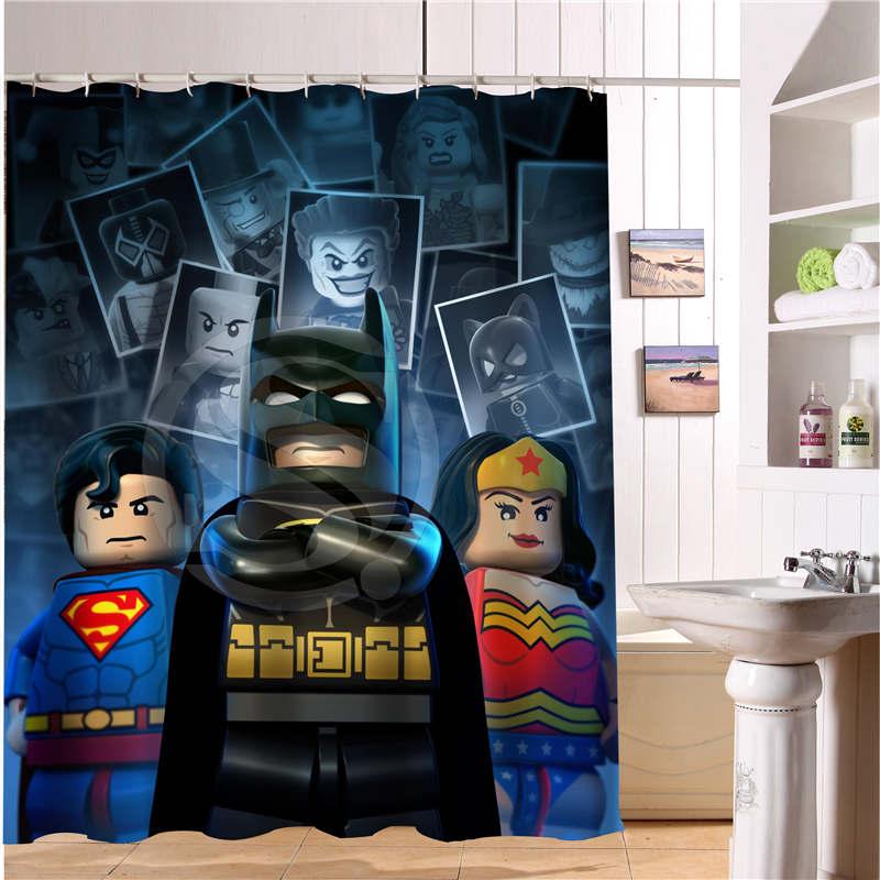 Custom Lego Batman Trinity Joker Fabric Modern Shower Curtain 3D Waterproof Bath Printing 12 Hooks For The Bathroom In Curtains From Home