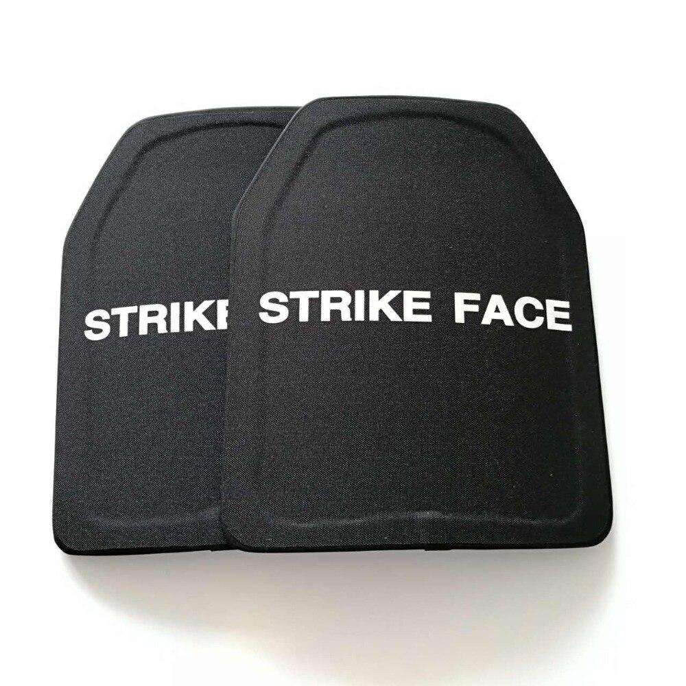 2pcs/Lot UHMWPE Level IIIA Stand Alone Ballistic Panels PE Level 3A  Bulletproof Plates Body Armor Plates Free Shipping