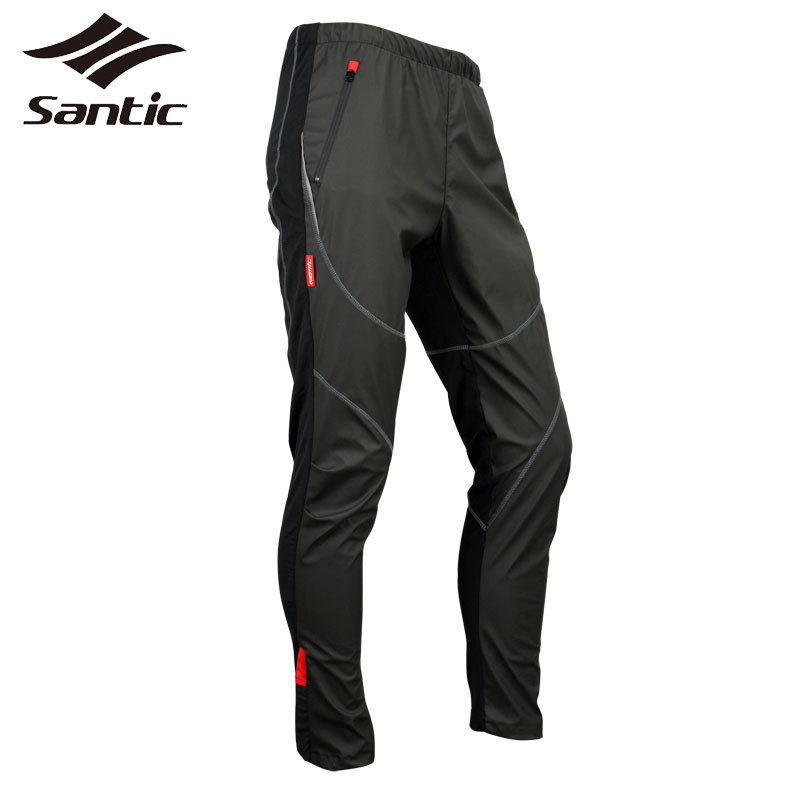 Santic Cycling Pants Mens Winter Fleece Thermal Sports Pants Mtb Downhill Clothing Bike Long Trousers Bicycle Pantalones santic mens windproof outdoor sports bike bicycle running fitness ciclismo pants winproof sports trousers clothing m 3xl