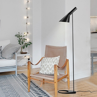 Post modern Design iron AJ Floor Lamp Black/White Metal Stand Light for bar Living Room/Bedroom E27 LED Bulb